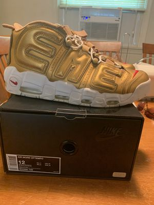 Nike Supreme Uptempo Gold size 12 100% Authentic for Sale in Laurel, MD