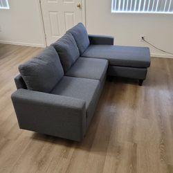 Sectional Couch Sofa, L-shaped, Grey for Sale in Henderson,  NV