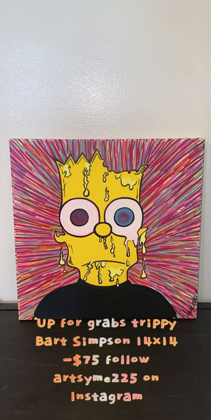 N-E-W-Trippy Bart Simpson Local Artist for Sale in Canal Winchester, OH