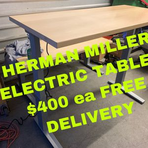 HERMAN MILLER ELECTRIC SIT STAND TABLES $400ea, AERON OFFICE CHAIRS $380 Each for Sale in West Covina, CA
