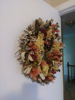Real dry flower wreath for Sale in Gaithersburg, MD