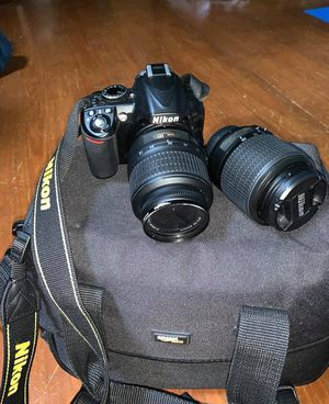 Nikon D3100 w/ 2 lenses and bag! for Sale in Lynchburg, VA