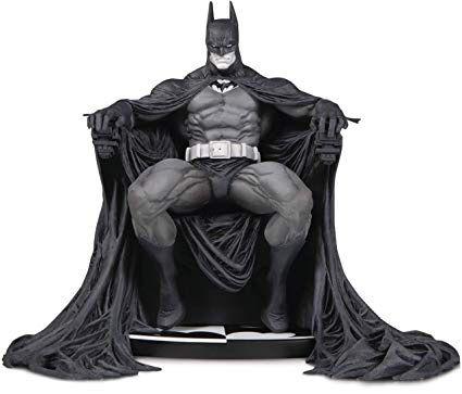 Dc collectibles Batman black and white statue Batman on throne