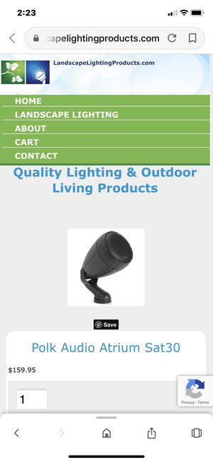 Speaker Outdoor Satellite Atrium Polk (Never Used) for Sale in San Diego, CA