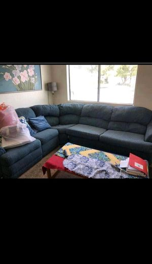Blue sectional for Sale in Stockton, CA