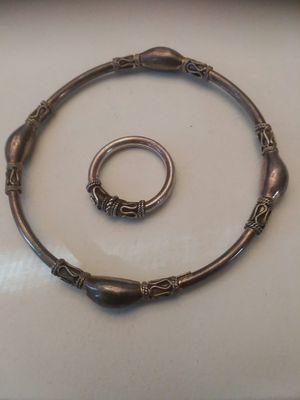 Vintage silver ladies Etruscan ring and bracelet set. for Sale in San Francisco, CA