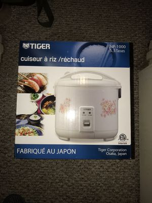Tiger rice cooker 5.5 cups JNP-1000 for Sale in Dallas, TX