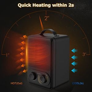 1500W Ceramic Heater With Thermostat, Overheat, And Tip-Off Protection for Sale in Victorville, CA