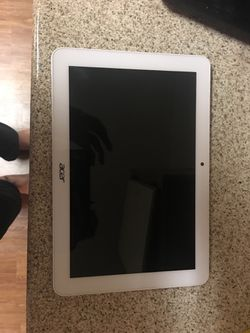 A Acer tablet used...Note The charging port DOES NoT work.. for Sale in Fontana,  CA