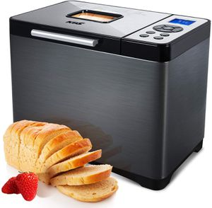 2LB Stainless Steel Bread Maker with 19 Menus Automatic Bread Machine Non-stick Ceramic Pan for Sale in Arlington, TX