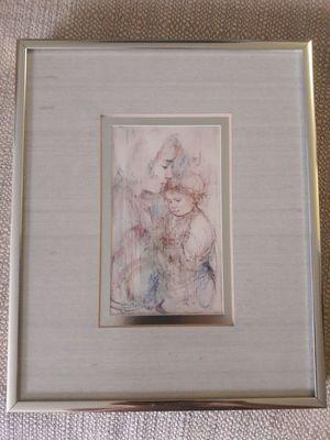 The Hibel Museum of Art Framed Print ~Edna Hibel Dutch Mother & Child for Sale in Lisle, IL