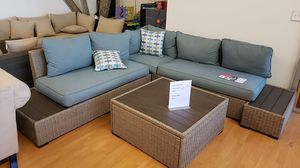 Brand New Patio Furniture Sectional with two end table and coffee table tax included and free delivery for Sale in Hayward, CA