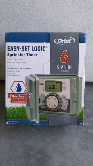 Sprinkler timer 6 station New indoor and outdoor for Sale in Lincoln Acres, CA