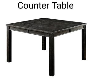 Counter Height Table in Antique Black Finish for Sale in Fontana, CA