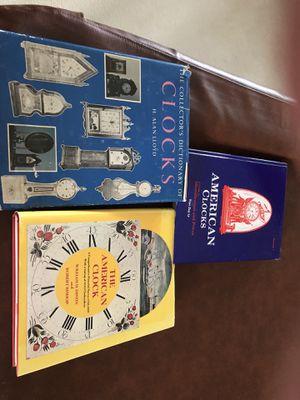 American antique clock books three in total. for Sale in Lutz, FL