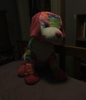 Rainbow dog plushie large for Sale in Iron Mountain, MI