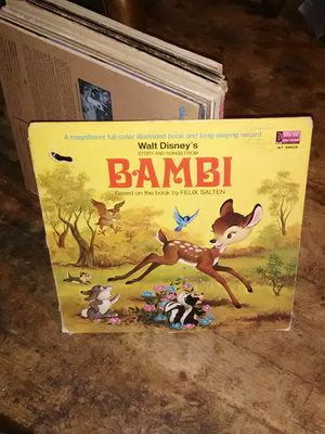 Vintage Walt Disney Bambi vinyl record for Sale in Columbus, OH