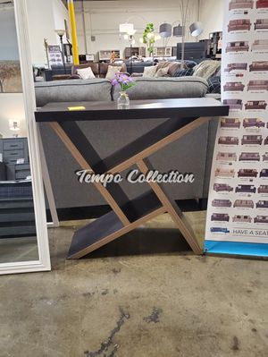 Samantha Console Table, Espresso and Dark Taupe, SKU# ID161616TC for Sale in Santa Fe Springs, CA