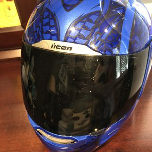 Icon Helmet!!! Size L! Super cool Graphics And Tinted shield! for Sale in La Puente, CA