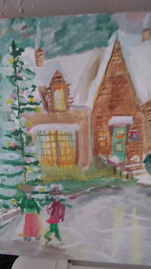 CHRISTMAS STORY original oil painting for Sale in Richland, WA