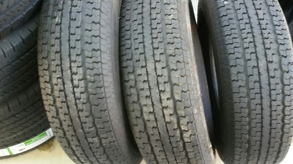 4 like new trailer tires 235/80/16.Goodyear