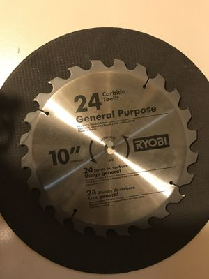 "10"" Table Saw Blade 24 tooth Carbide Brand New for Sale in Anchorage, AK"
