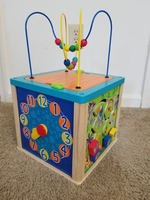 Toddler Kids Toys Wooden Activity Cube for Sale in Richmond, VA