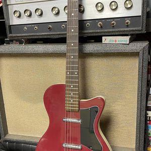 1990's Danelectro U2 Commie Red Lipstick Pickup Guitar for Sale in Nipomo, CA