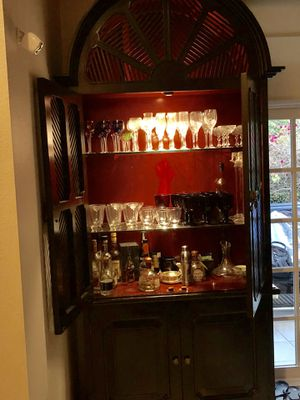 Antique Armoire China Cabinet for Sale in San Diego, CA