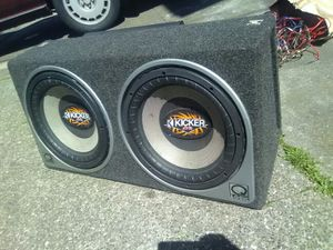 """2 12"""" kicker subwoofers for Sale in San Francisco, CA"""