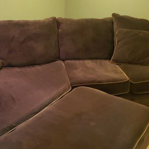 CUDDLER SECTIONAL SOFA AND OTTOMAN for Sale in Milwaukie, OR