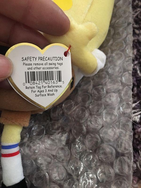 Ty SpongeBob SquarePants Beanie Babies - New