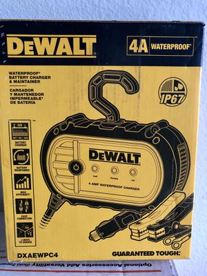 DeWalt 4 Amp Professional waterproof Battery Charger for Sale in Garden Grove, CA