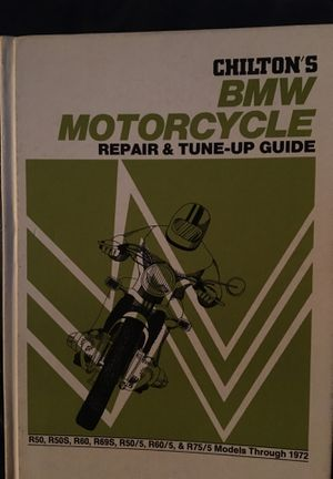 Chilton's BMW Motorcycle repair and tuneup guide through 1972 for Sale in Belleair, FL