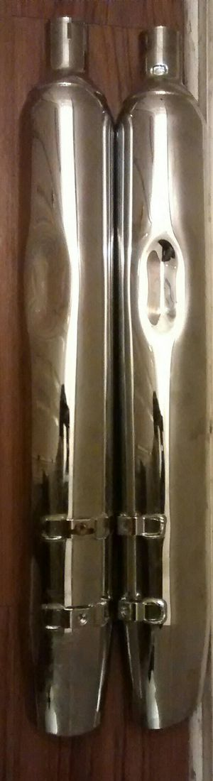 Official Harley Davidson Full Boar Exhaust Angle Cut slip-on Muffler with 2.5 Baffle Chrome for Sale in Alexandria, VA