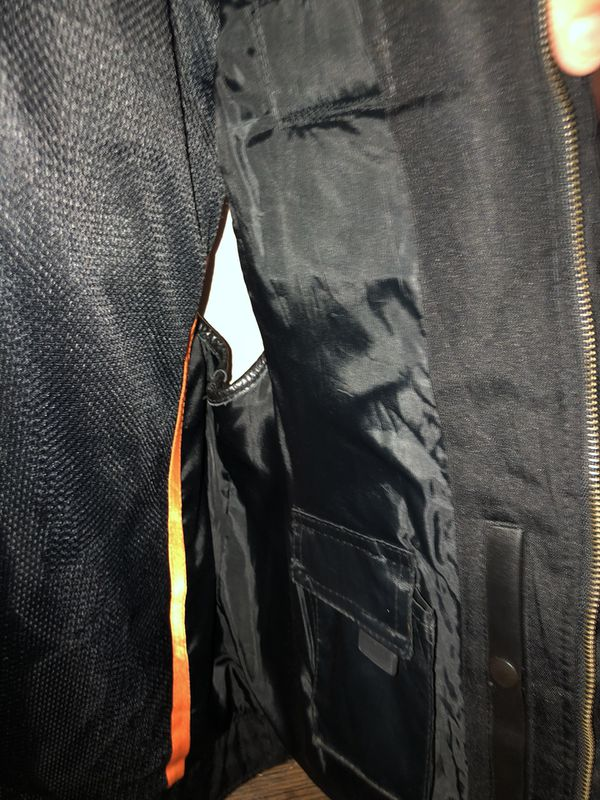 Motorcycle leather vest xl