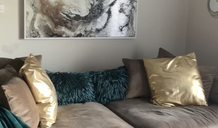 2 Piece Sectional W All Original Pillows for Sale in Dublin,  OH