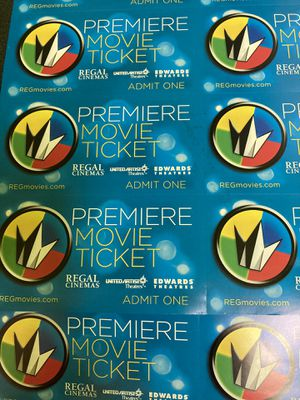 Regal premiere movie ticket. Never expire! for Sale in Lawrence Township, NJ