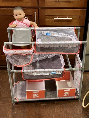 American Girl Bitty Baby doll with Hauck doll play center for Sale in Bothell, WA