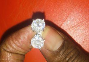 Diamond cluster earrings for Sale in Tampa, FL