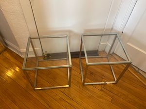 Set of Glass End tables for Sale in Chicago, IL