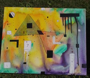 Abstract canvas painting for Sale in Seattle, WA