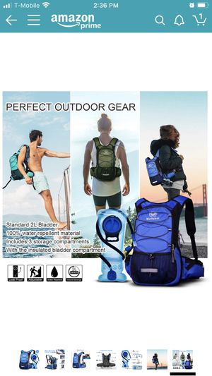 New Mothybot Insulated Hydration Backpack Pack with 2L BPA Free Waterproof Bladder Hiking Backpack with Storage for Kids, Men/Women- Keep Liquid Cool for Sale in Chino, CA