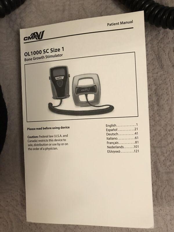 CMF Bone Growth Stimulator for feet, with 7 batteries