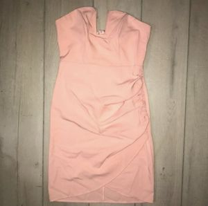 Laura's boutique pink strapless deep v neck plunged mini dress for Sale in Duarte, CA
