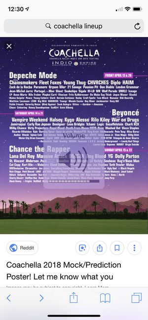 GA Coachella Weekend 1 Tickets for Sale in West Los Angeles, CA