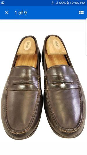 SANTONI MAN SHOES PENNY LOAFERS SLIP ONS BROWN LEATHER SIZE 9 EE for Sale in Las Vegas, NV