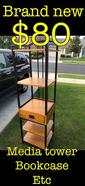 Bookcase tower or media end shelves brand new for Sale in Bakersfield, CA