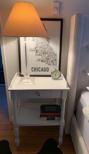 White Rachel Ashwell nightstand (painted matte white) for Sale in Santa Monica, CA