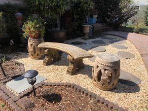 Outdoor stone decor set for Sale in McLean, VA